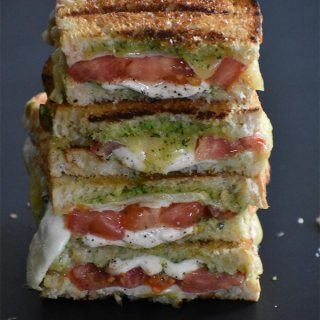 Grilled Caprese and Pesto Panini