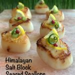Himalayan Salt Block Seared Scallops