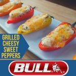 Grilled Cheesy Sweet Peppers