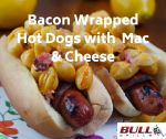 Bacon Wrapped Hot Dogs with Mac & Cheese