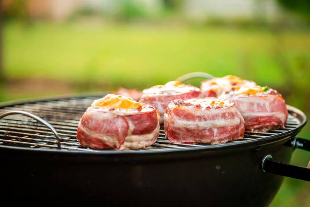 kugelgrill bacon burger