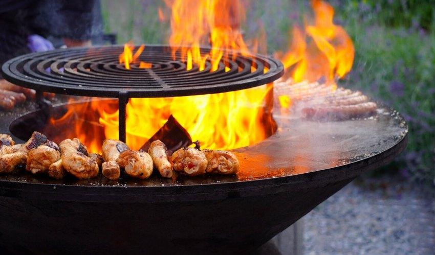 grilltonne mit feuerplatte
