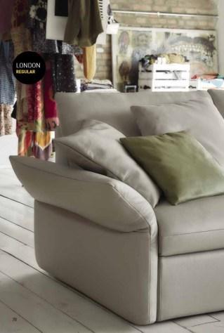 Design originale e confort assoluto. il Bracciolo B 1 è reclinabile e permette di vivere il divano sia da seduti che da sdraiati. Per un relax senza uguali