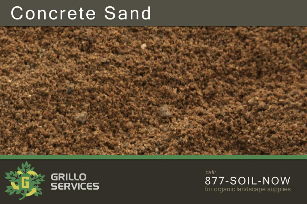 Gritty Concrete Sand, Grillo Services Ct