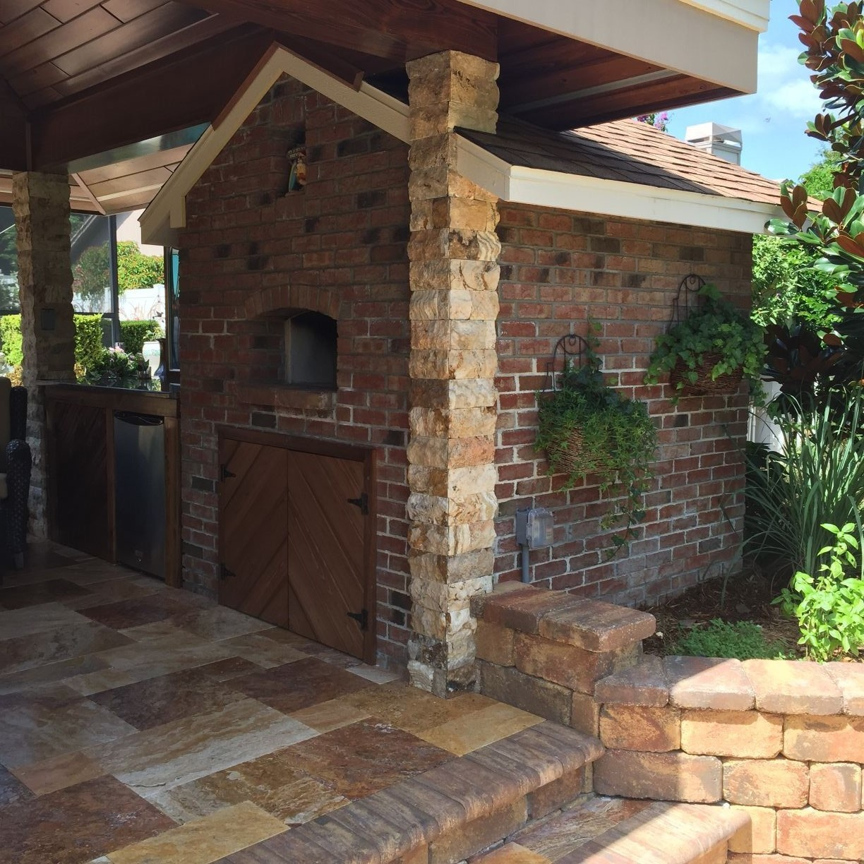 Outdoor Brick Oven Kit - Wood Burning Pizza Ovens | Grills ... on Outdoor Patio With Pizza Oven  id=50379