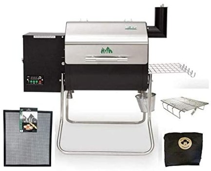 Davy Crockett Pellet Grill Package Includes Cover-Collapsible Rack-Small Mat