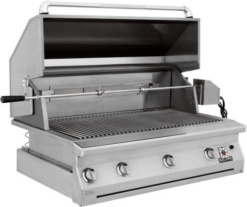 """Solaire SOL-AGBQ-42IR 42"""" Stainless Steel Built-In Infrared Gas Grill With Rotisserie Burner"""