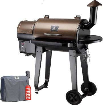 Z GRILLS ZPG-450A 2020 Upgrade Wood Pellet Grill & Smoker 6 in 1 BBQ Grill Auto Temperature Control, 450 Sq. in Bronze Visit the Z GRILLS