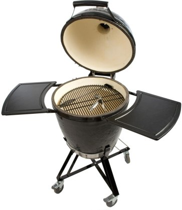 Primo Grills and Smokers 773 All-in-One Kamado Round Grill with Cradle Shelves