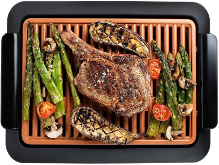 GOTHAM STEEL Smokeless Grill Indoor Grill Ultra Nonstick Electric Grill – Dishwasher Safe Surface, Temp Control, Metal Utensil Safe,...