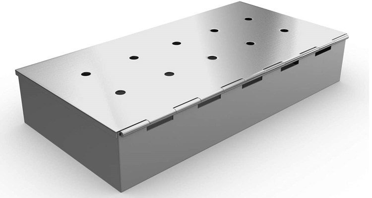 Smoker Box for BBQ Grill Wood Chips - 25% THICKER STAINLESS STEEL WON'T WARP - Charcoal & Gas Barbecue Meat Smoking with Hinged Lid - Best Grilling...