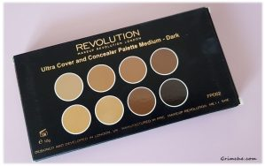 Палитра с коректори Makeup Revolution Cover and Conceal Palette 2