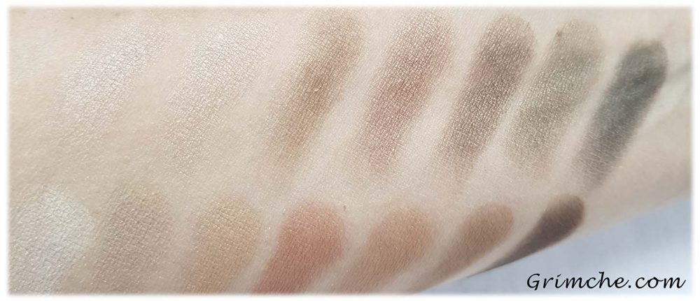 Палитрата The Delectable Palette Delicious Shades Of Nude на Laura Gellar swatches dry