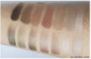 Палитрата The Delectable Palette Delicious Shades Of Nude на Laura Gellar swatches wet
