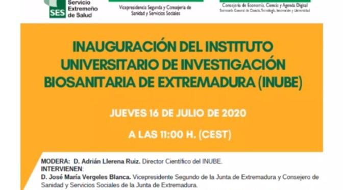 Inauguración del Instituto Universitario de Investigación Biosanitaria de Extremadura