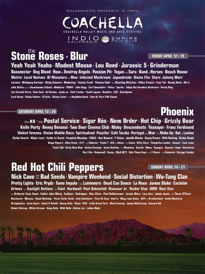 Coachella 2013 line up poster official
