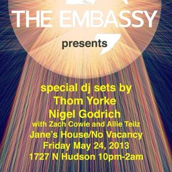 Thom Yorke Nigel Goodrich Party The Embassy