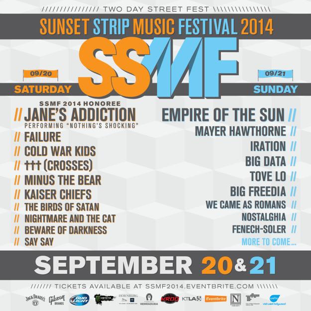 sunset strip music fest 2014 line up
