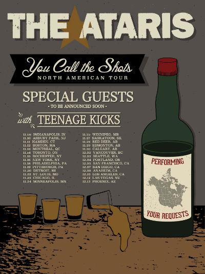 The Ataris You Call The Shots Tour Flyer