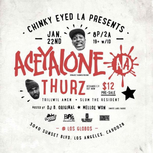 Aceyalone and Thurz Flyer