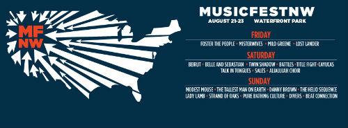 MusicfestNW Flyer