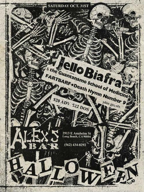 Jello Biafra Halloween Flyer
