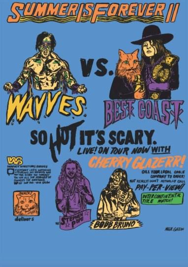 Best coast Wavves poster