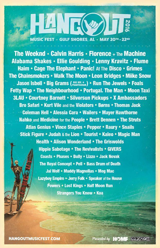 Hangout 2016 lineup poster