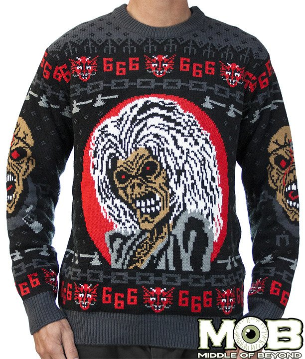 iro maiden ugly christmas sweater