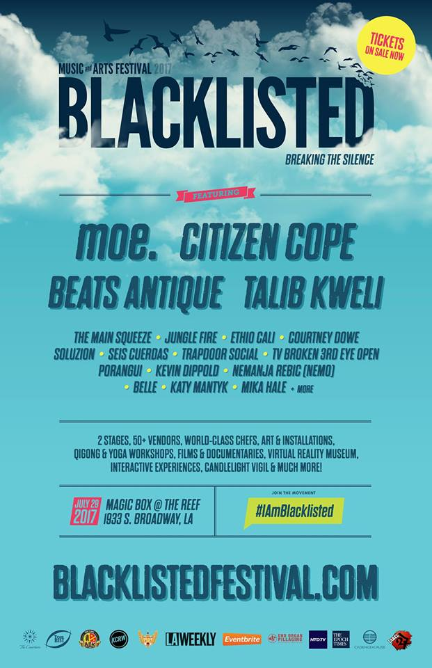 Blacklisted music and arts fest