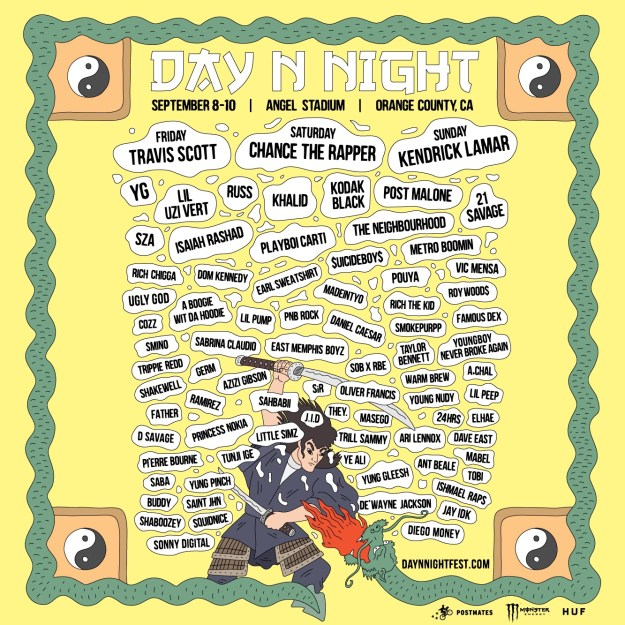 Day n Night festival lineup 2017