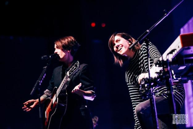 Tegan and Sara at the Ace Theatre in DTLA shot by Danielle Gornbein