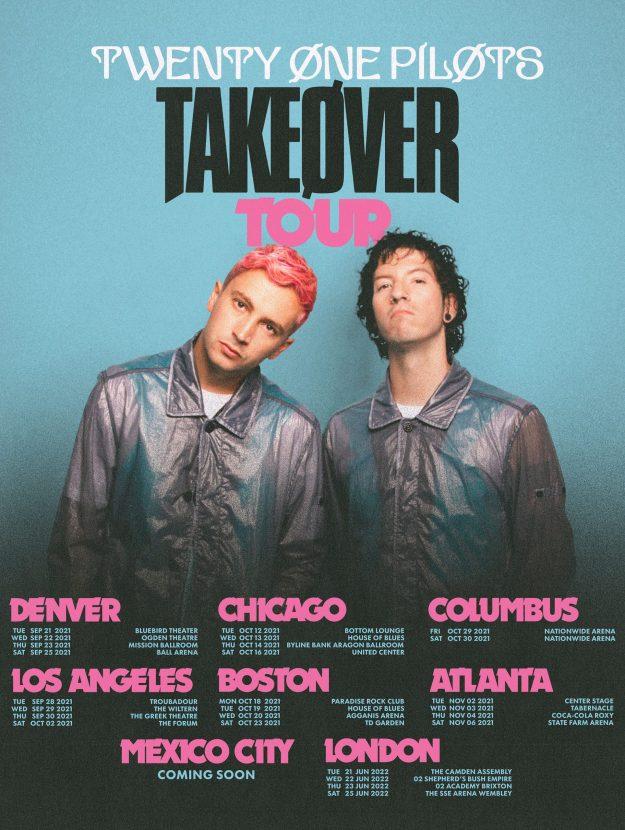 "twenty one pilots ""Takeøver Tour"""