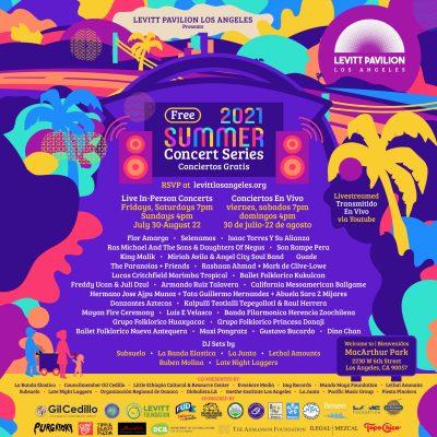 Levitt Pavilion Los Angeles free summer concerts 2021