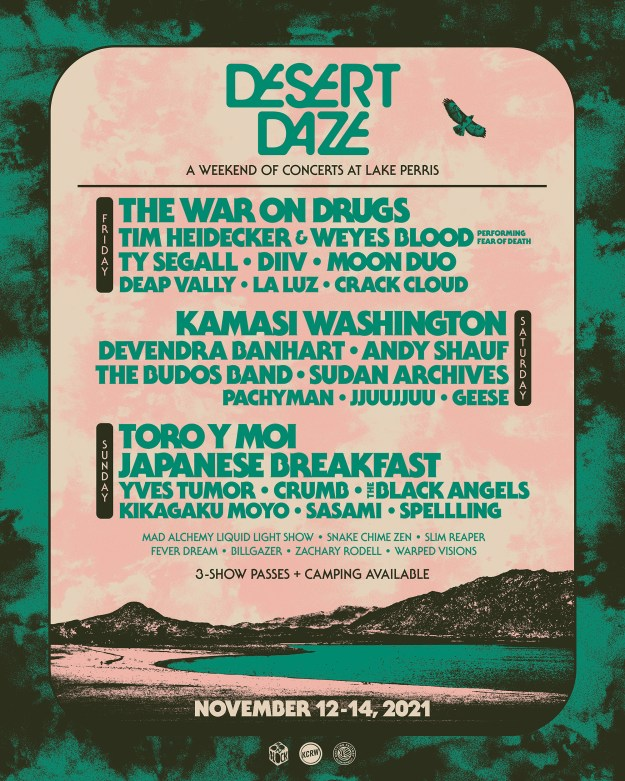 Desert Daze Returns With 3-Day Line Up at Lake Perris, CA