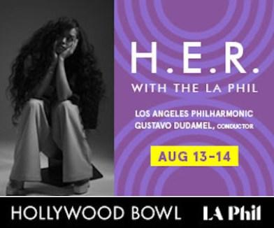 H.E.R at hollywood bowl