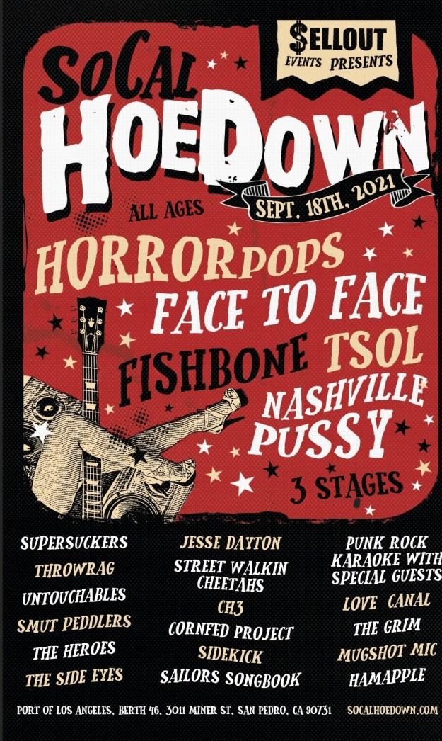 So Cal Hoedown 2021 lineup poster
