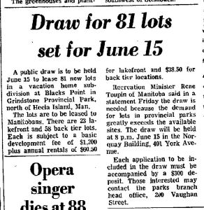 Vacation Home Draw May 1976