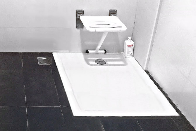 hospital with non slip coating in bath
