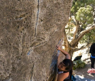 Bouldering on some of Utah's finest bouldering problems