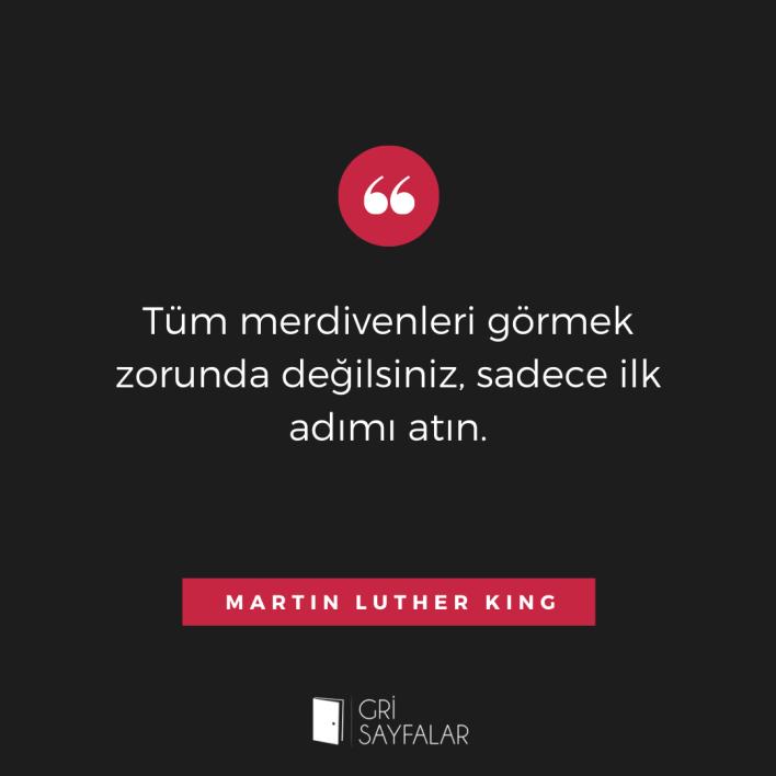 martin luther king düşünmek