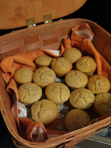 Basket of Cornbread Muffins