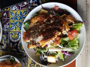 Blackened Red Fish Salad