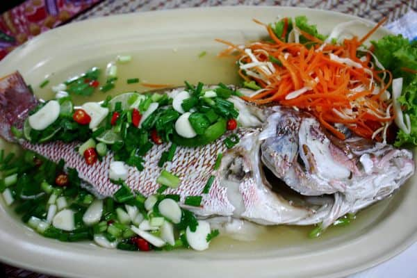 fresh fish in phuket: tom super-yum
