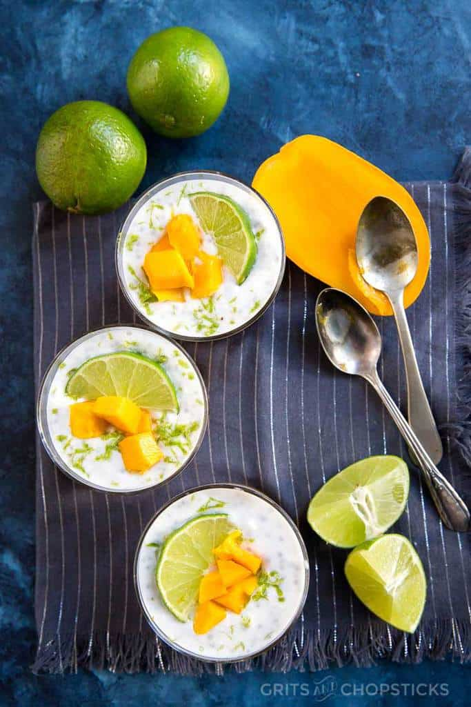This mango lime chia pudding is Whole30/paleo compliant, beautiful to look at, and so very tasty!