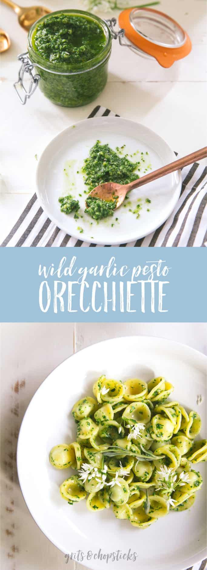 Use seasonal spring ingredients to make this wild garlic pesto orecchiette (or use ramps if you can't find wild garlic)