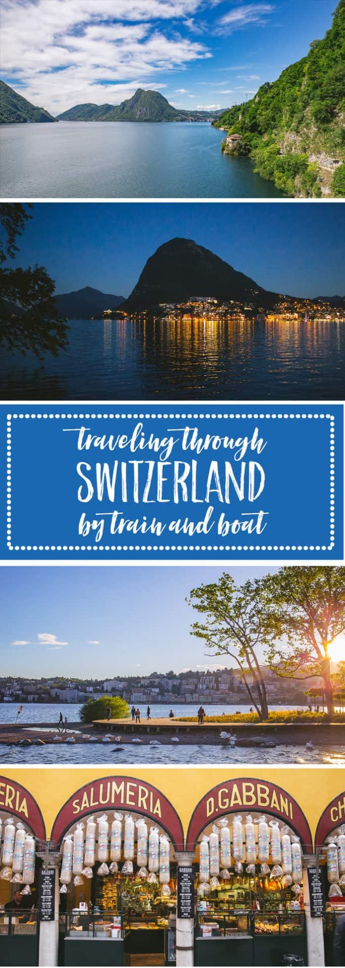 travel by train through switzerland