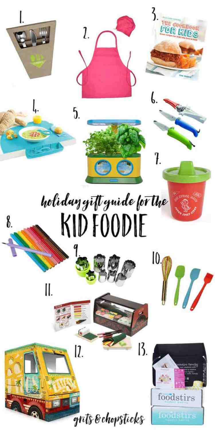 Check out this great guide to adorable and useful gifts for the kid foodie in your life!