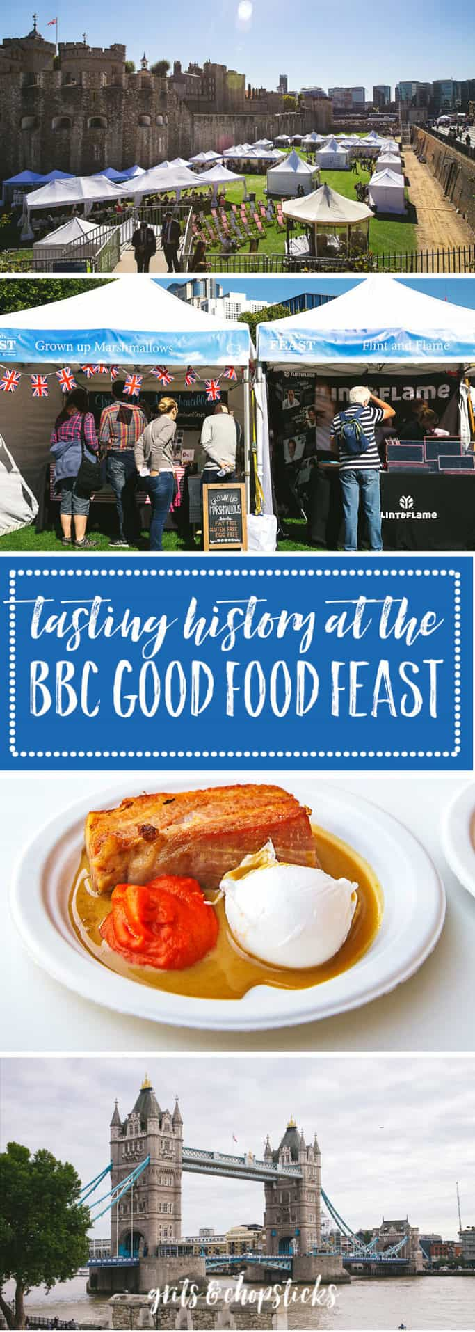 Tasting history at the BBC Good Food Feast in and around various locations in London means that you can see British history up close while eating delicious food and seeing famous British chefs in their demo kitchen! Click here for more information