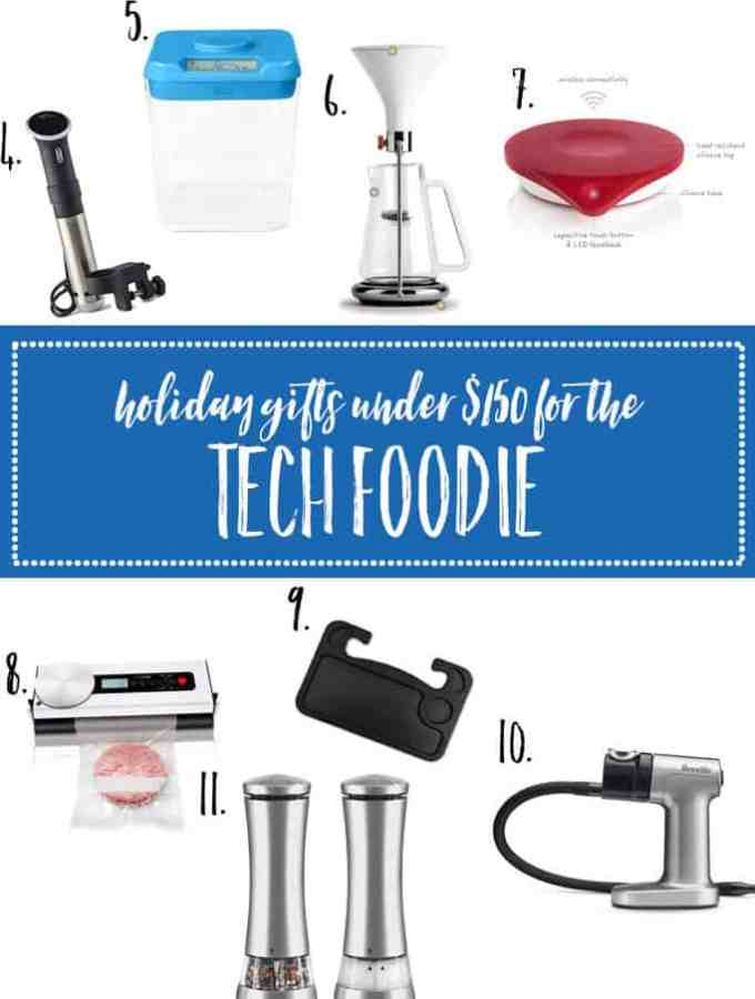 Check out this 2017 holiday gift guide for tech foodie in your life, all under $150!